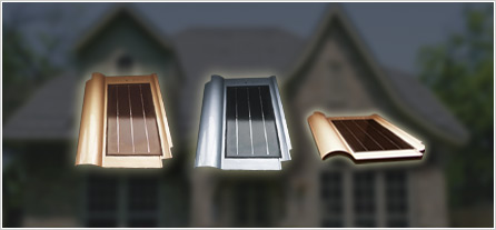 Gold and silver PV roof tiles